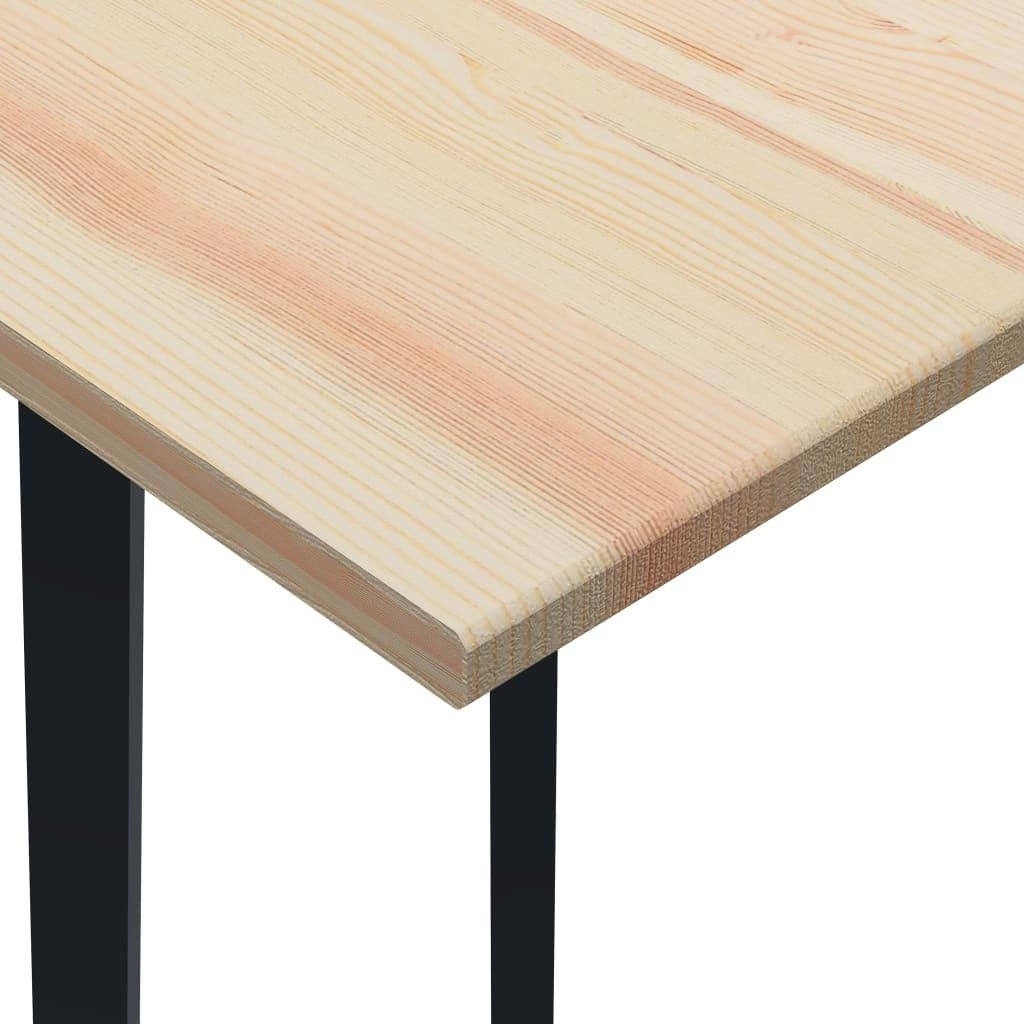 Masă de bucătărie, 200 x 100 x 76 cm, lemn de pin