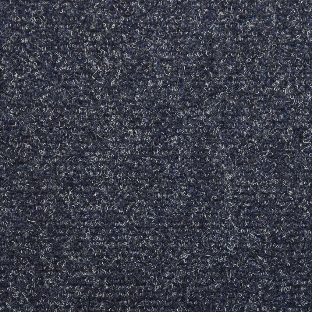 Covorașe de scări cusătură punch, 15 buc., albastru, 65 x 25 cm
