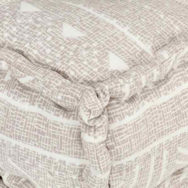 Fotoliu puf modular, bej, material textil