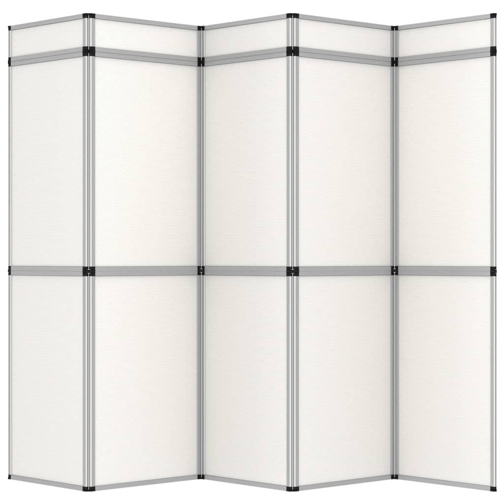 vidaXL Perete de afișaj pliabil cu 15 panouri, alb, 302 x 200 cm