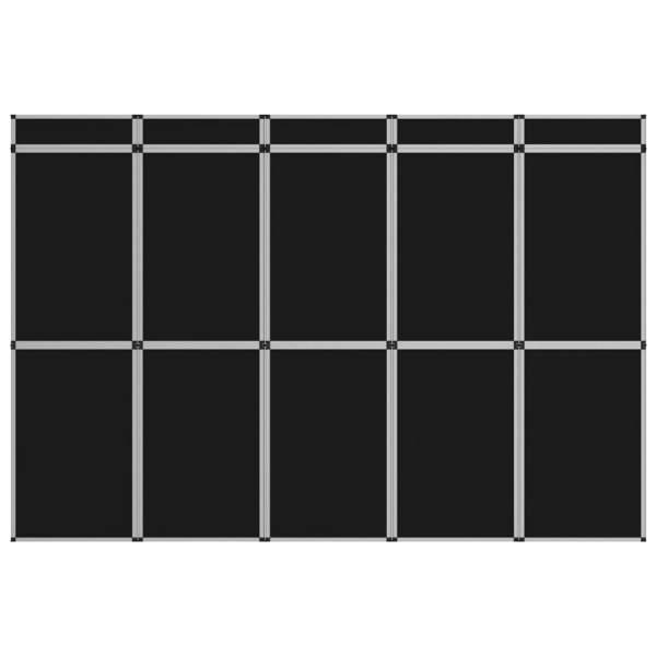 vidaXL Perete de afișaj pliabil cu 15 panouri, negru, 302×200 cm