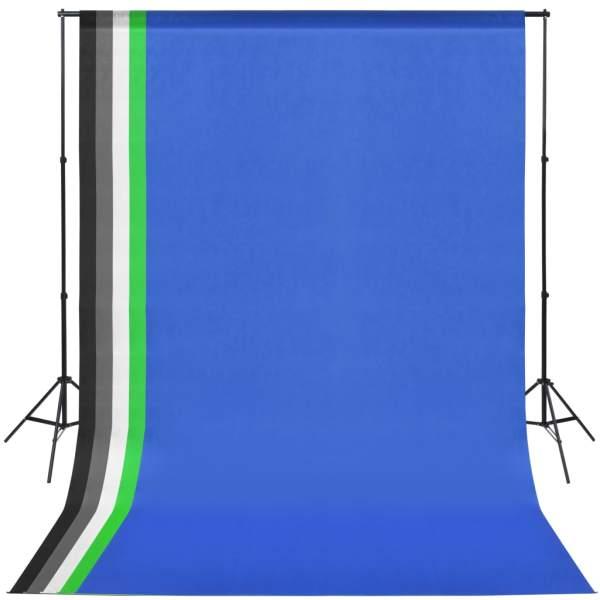 vidaXL Kit studio foto cu lumini modelatoare și fundaluri