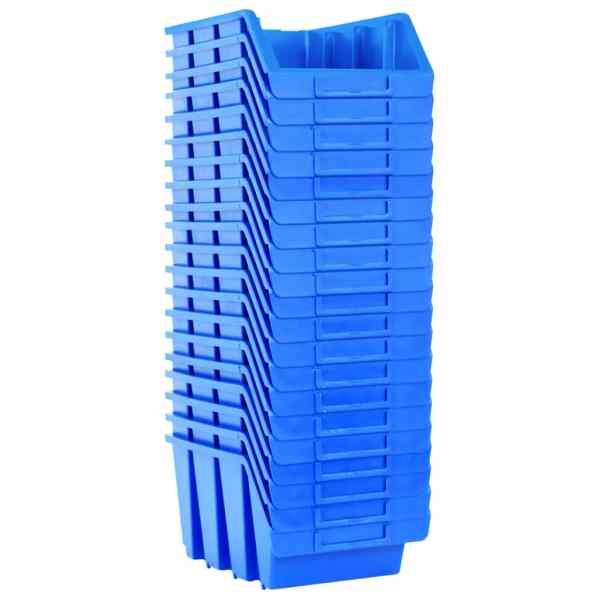 vidaXL Cutii de depozitare stivuibile, 20 buc., albastru, plastic