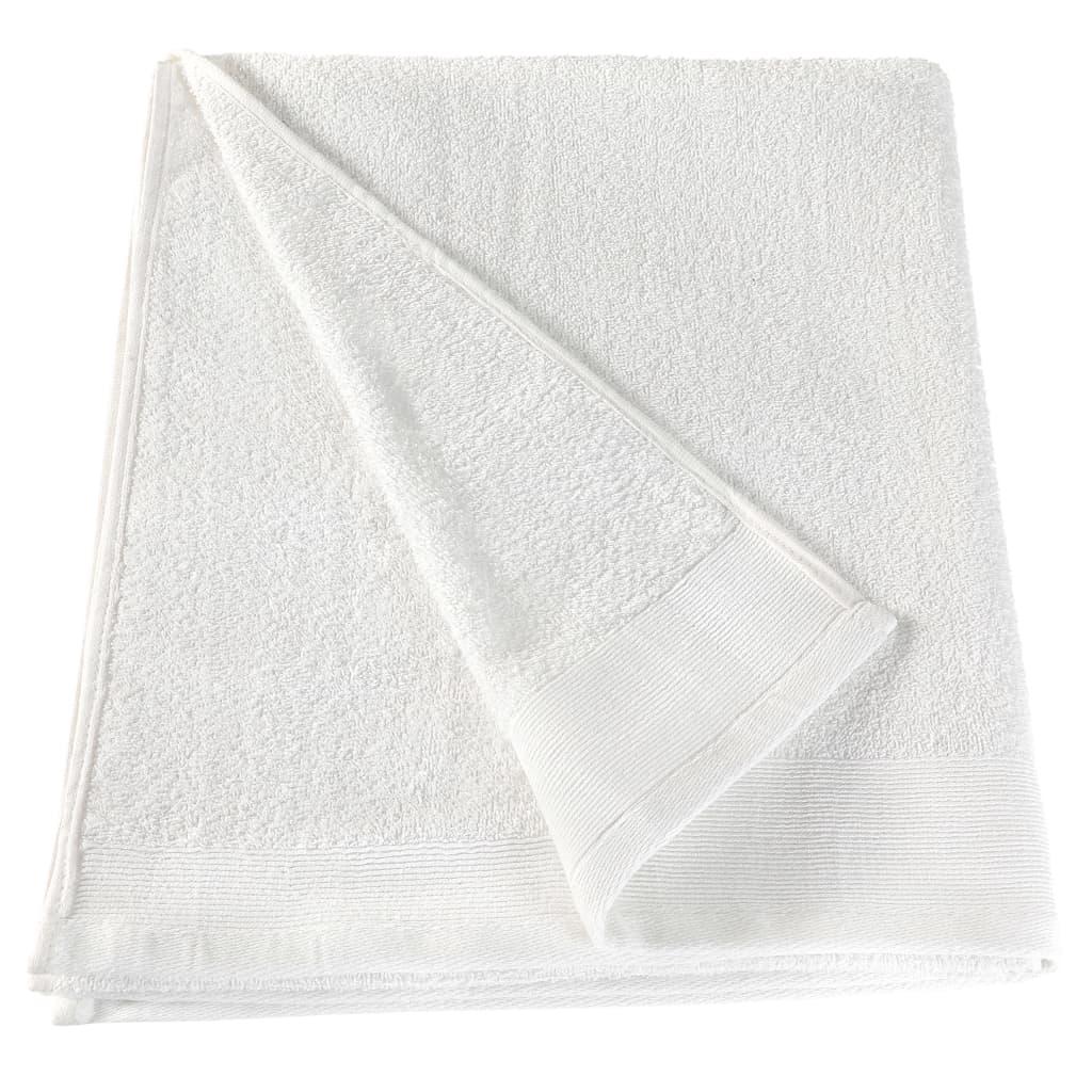 Prosoape de saună, 25 buc., alb, 80 x 200 cm, bumbac, 350 gsm