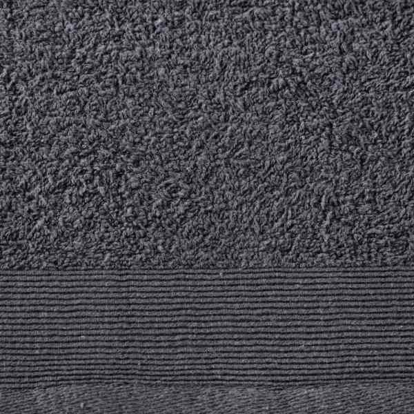Prosoape de saună, 5 buc., antracit, 80×200 cm, bumbac, 450 gsm
