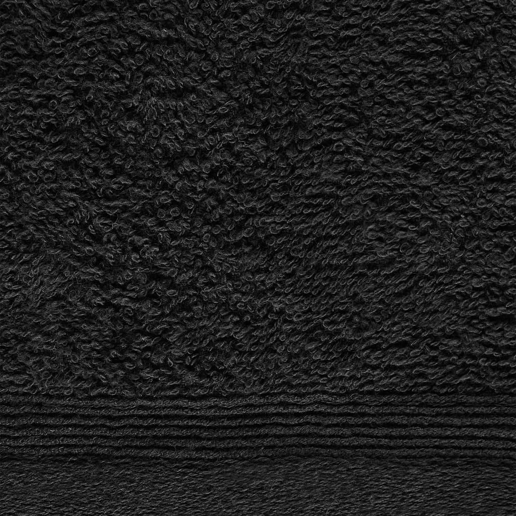 Prosoape oaspeți, 10 buc., negru, 30 x 50 cm, bumbac, 450 gsm