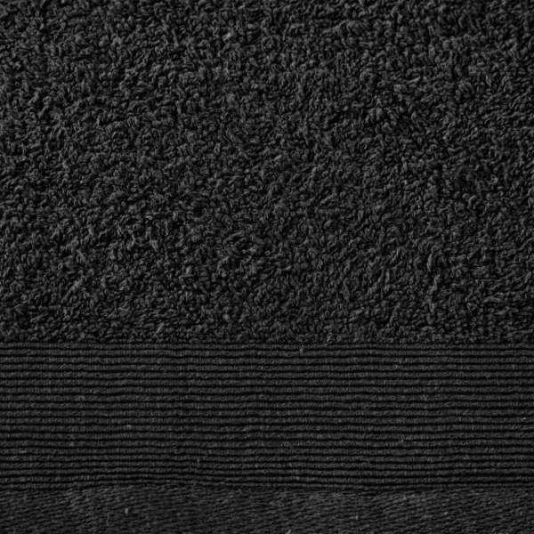 Prosoape de duș, 5 buc., negru, 70 x 140 cm, bumbac, 450 gsm