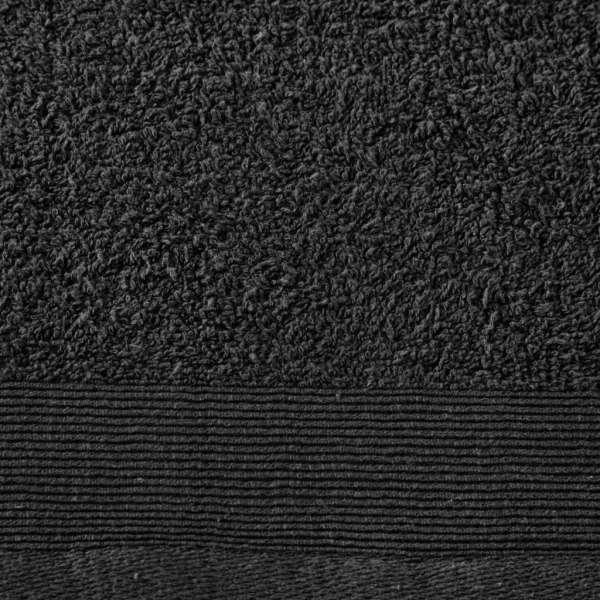 Set prosoape de baie, 5 buc, negru, 100×150 cm, bumbac, 450 gsm