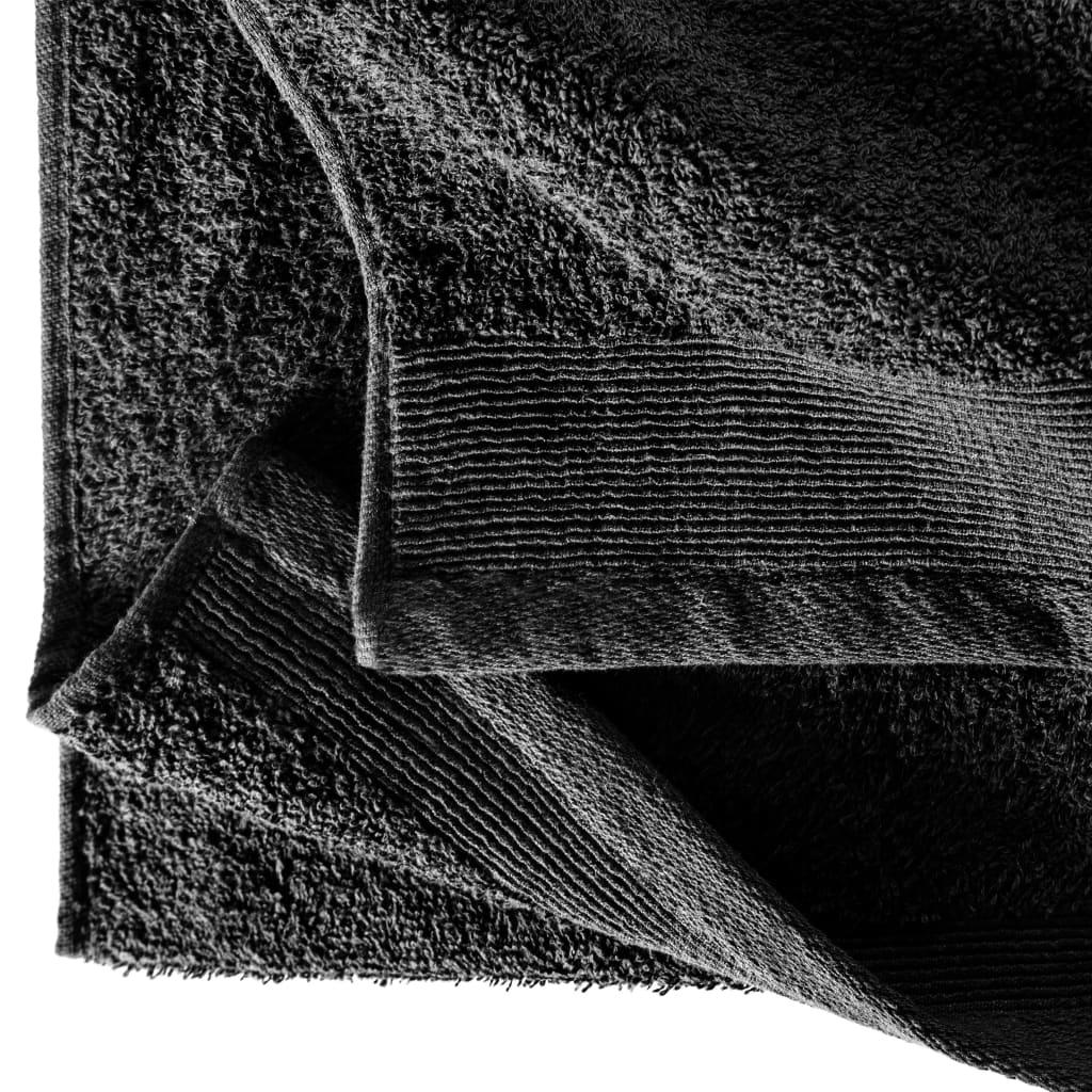 Prosoape de saună, 2 buc., negru, 80 x 200 cm, bumbac, 450 gsm