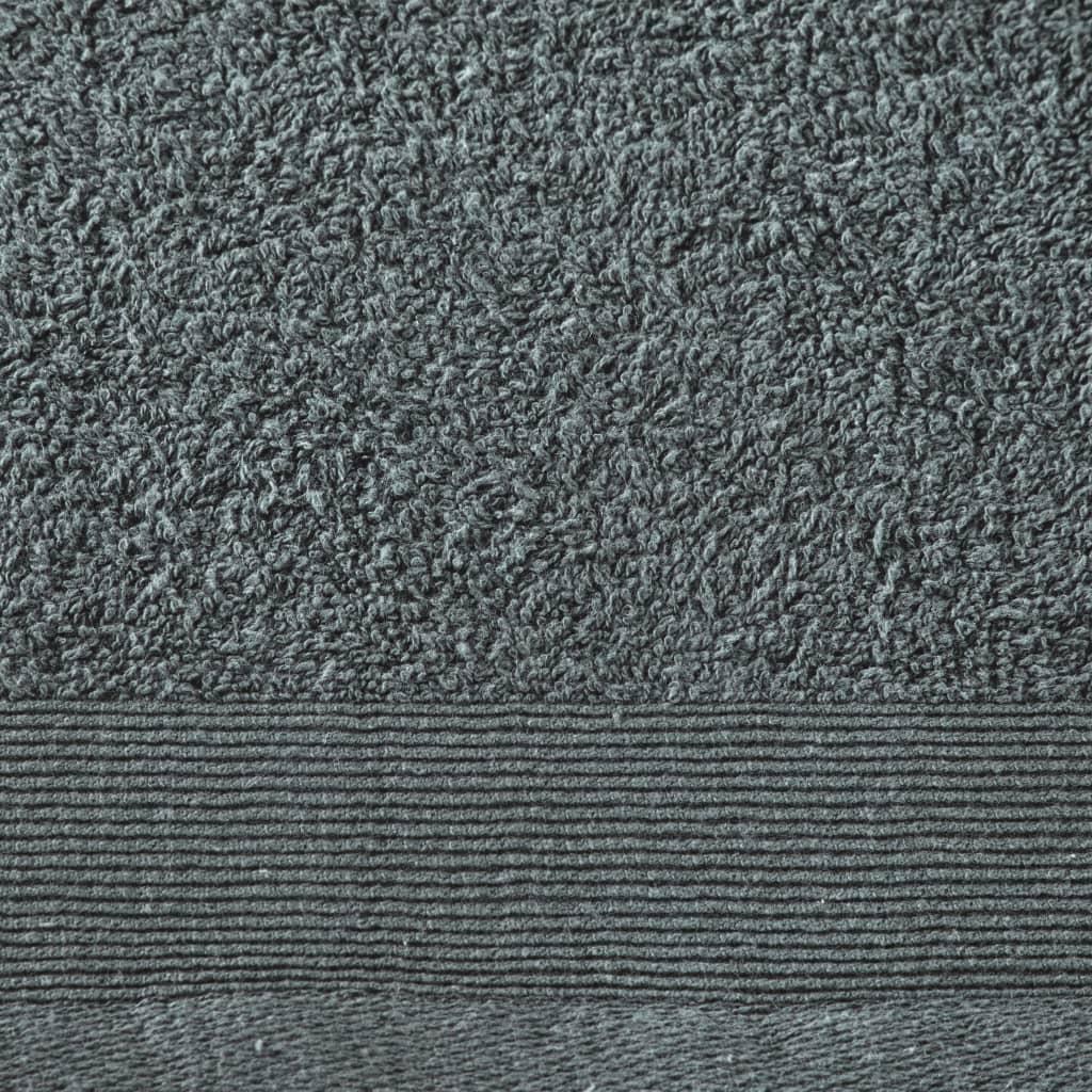 Prosoape de mâini, 5 buc., verde, 50 x 100 cm, bumbac, 450 gsm