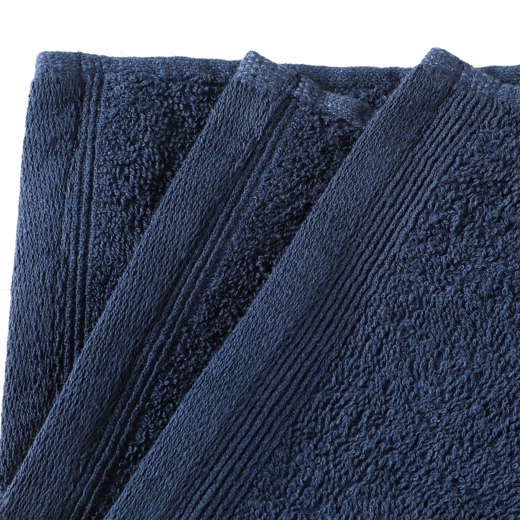 Prosoape oaspeți, 10 buc., bleumarin, 30×50 cm, bumbac, 450 gsm
