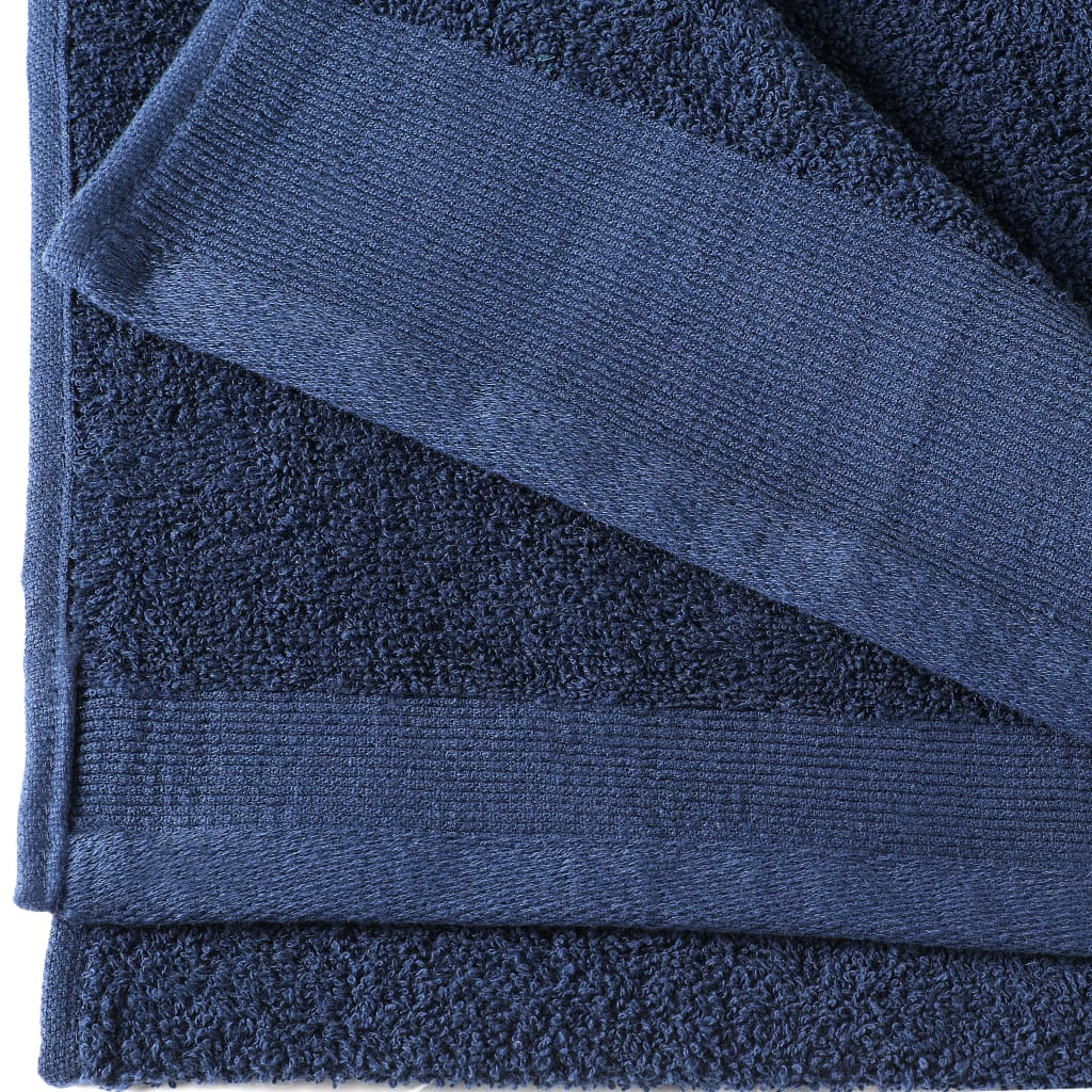 Prosoape de mâini, 5 buc, bleumarin, 50×100 cm, bumbac, 450 gsm