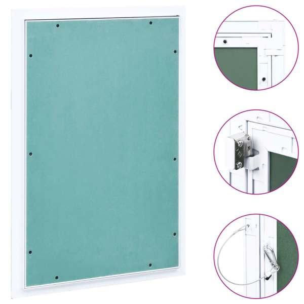 vidaXL Trapă de acces din gips-carton, cadru de aluminiu, 300 x 600 mm