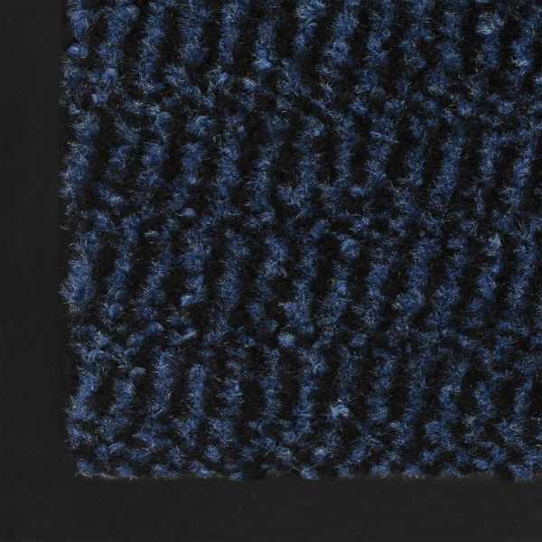 vidaXL Covoare ușă anti-praf, 2 buc. albastru, 40×60 cm dreptunghiular