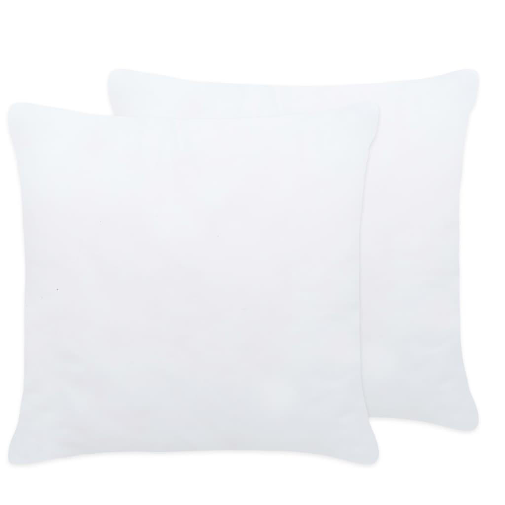 vidaXL Umpluturi de perne, 2 buc., alb, 45 x 45 cm