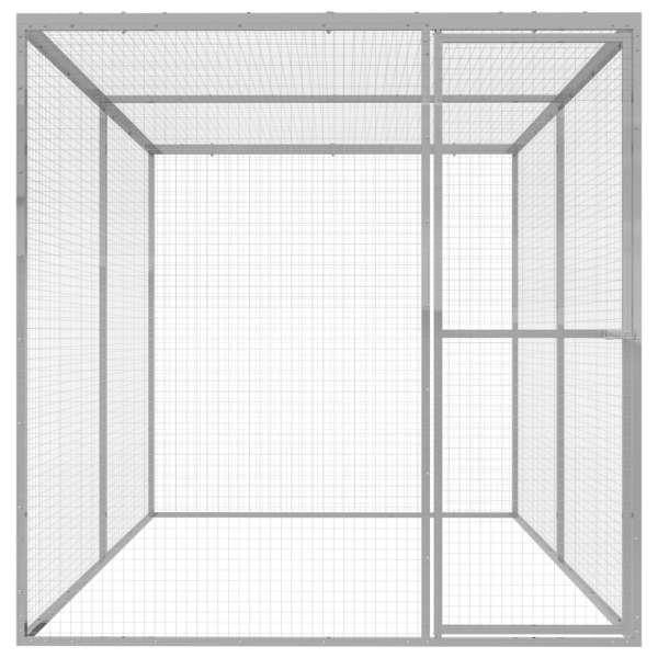 Cușcă pentru pisici, 3×1,5×1,5 m, oțel galvanizat