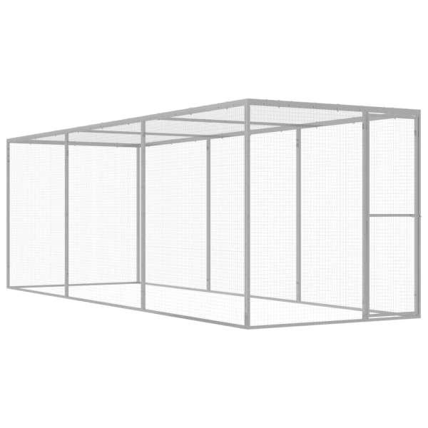 vidaXL Cușcă pentru pisici, 4,5 x 1,5 x 1,5 m, oțel galvanizat