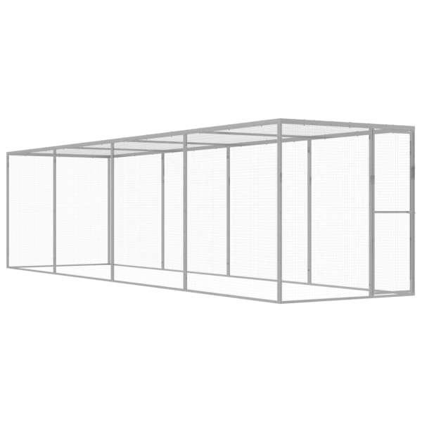 vidaXL Cușcă pentru pisici, 6 x 1,5 x 1,5 m, oțel galvanizat