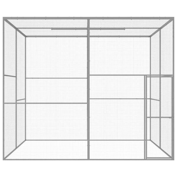 Cușcă pentru pisici, 3 x 3 x 2,5 m, oțel galvanizat