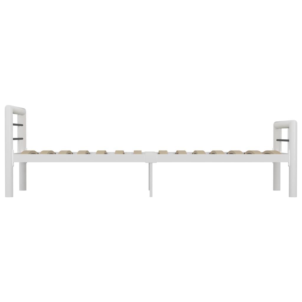 Cadru de pat, alb și negru, 90 x 200 cm, metal