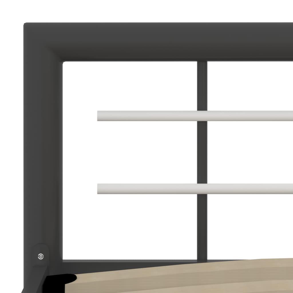 Cadru de pat, gri și alb, 120 x 200 cm, metal