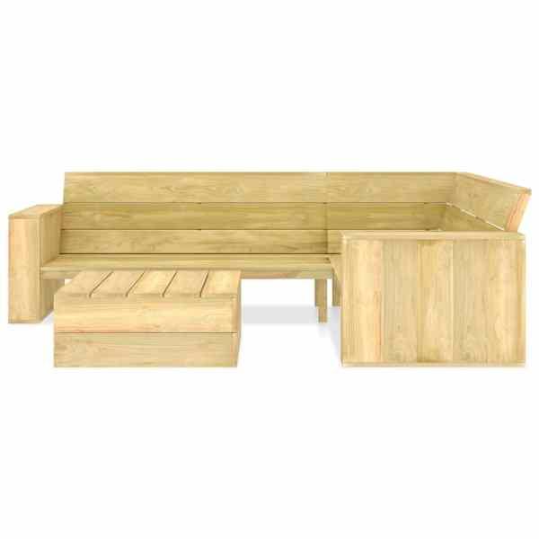 Set mobilier de grădină, 2 piese, lemn de pin tratat