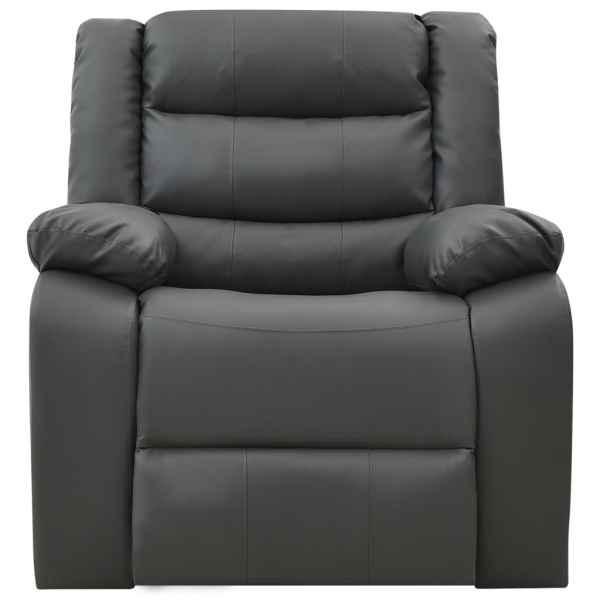 Canapea extensibilă, gri, piele ecologică