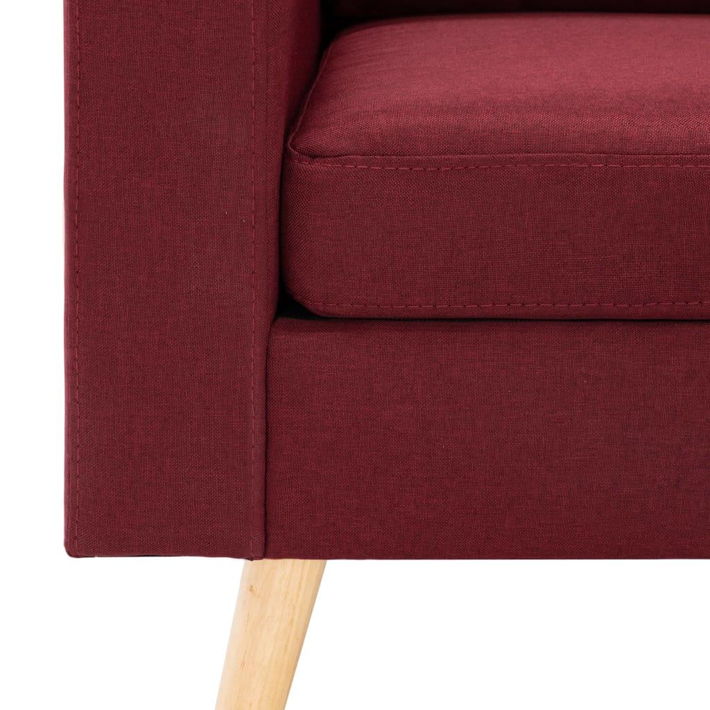 Fotoliu, roșu vin, material textil