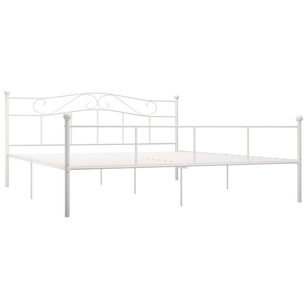 Cadru de pat, alb, 180 x 200 cm, metal