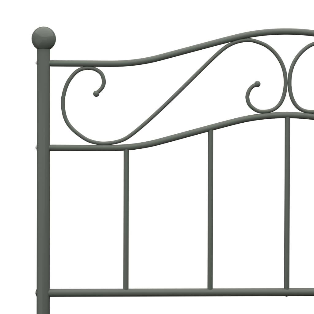 Cadru de pat, gri, 90 x 200 cm, metal