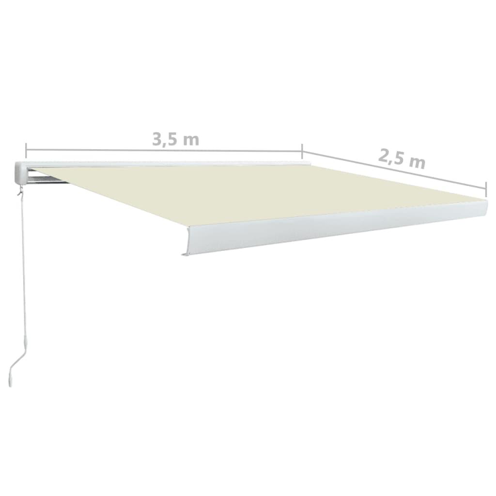 Copertină manuală tip casetă, crem, 350 x 250 cm