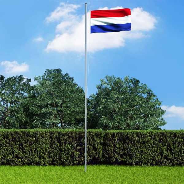 vidaXL Steag Olanda și stâlp din aluminiu, 6,2 m