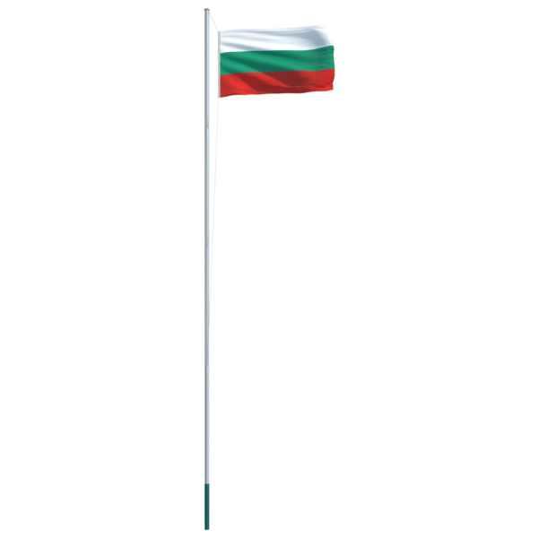 Drapel Bulgaria și stâlp din aluminiu, 6,2 m