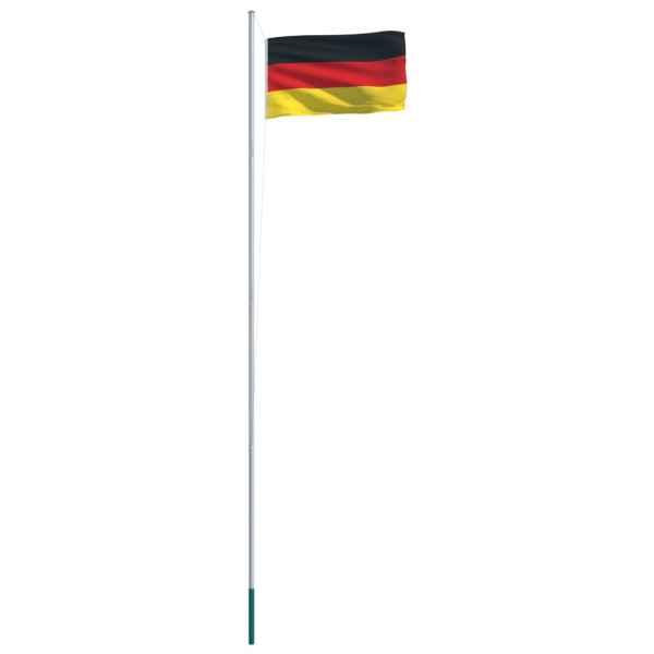 Drapel Germania și stâlp din aluminiu, 6,2 m