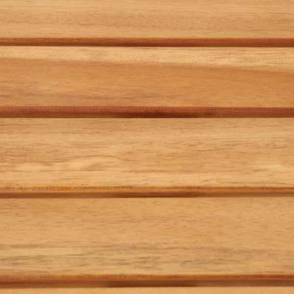 Mobilier de bar, 7 piese, lemn de acacia și oțel inoxidabil