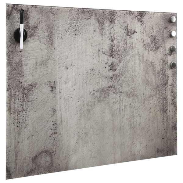 Tablă magnetică de perete, 50 x 50 cm, sticlă