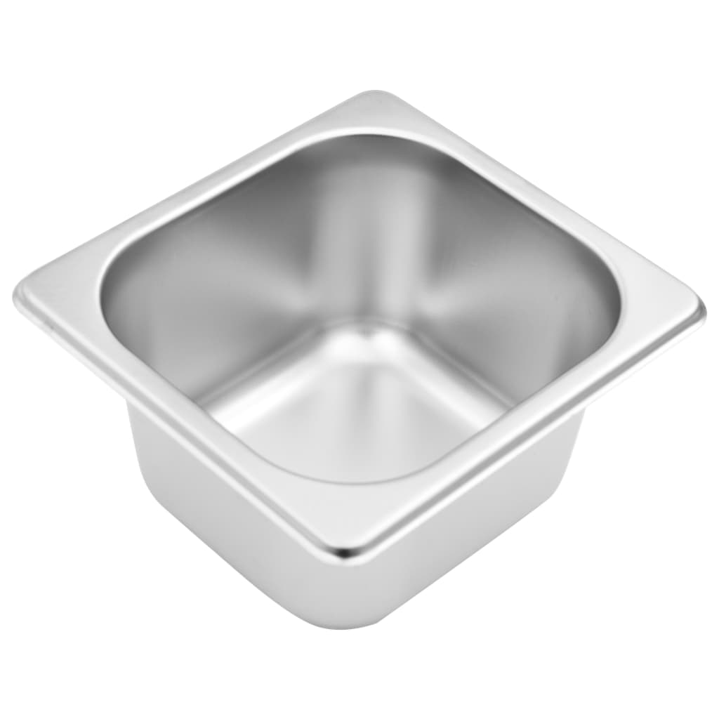 vidaXL Recipient Gastronorm cu 4 secțiuni GN 1/6 oțel inoxidabil