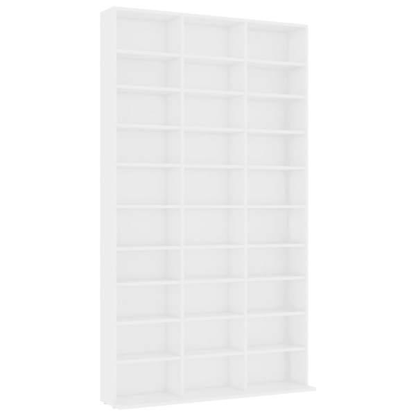 vidaXL Dulap pentru CD-uri, alb, 102 x 23 x 177,5 cm, PAL