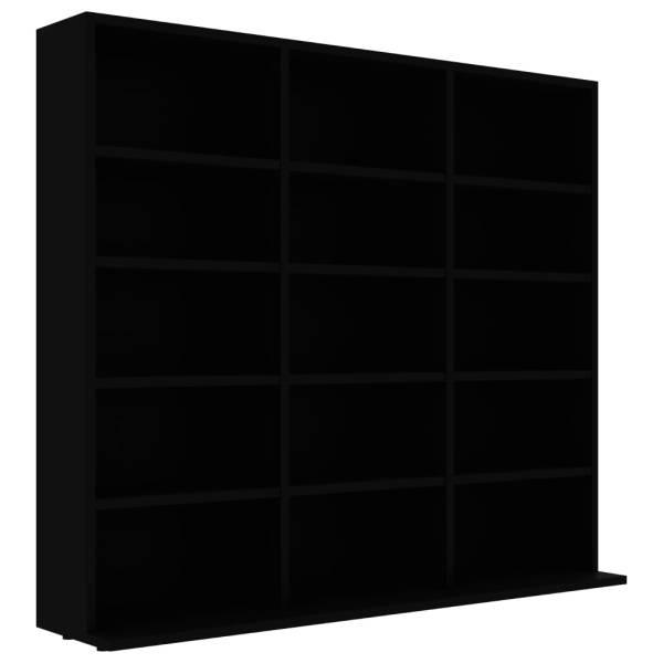 Dulap pentru CD-uri, negru, 102 x 23 x 89,5 cm, PAL