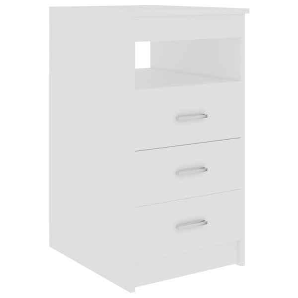 vidaXL Dulap cu sertare, alb, 40 x 50 x 76 cm, PAL