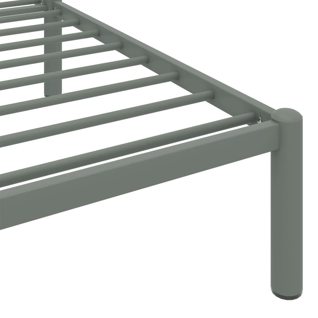 Cadru de pat, gri, 120 x 200 cm, metal