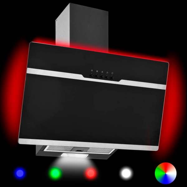 Hotă RGB cu LED, 60 cm, oțel inoxidabil și sticlă securizată