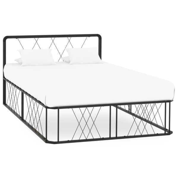 vidaXL Cadru de pat, negru, 120 x 200 cm, metal