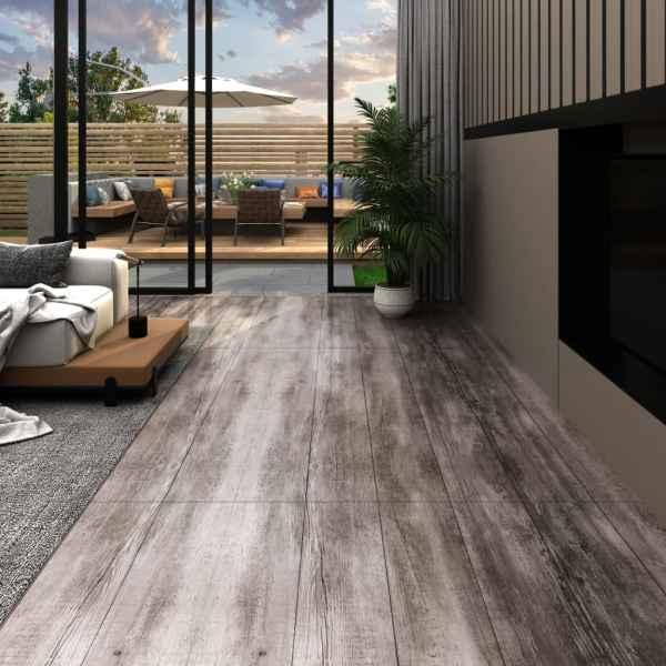 vidaXL Plăci de pardoseală, maro lemn mat, 5,26 m², PVC, 2 mm