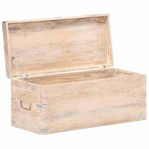 Cufăr, 90 x 40 x 40 cm, lemn masiv de acacia
