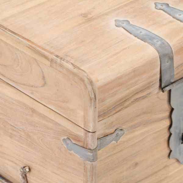 Cufăr, 40x40x40 cm, lemn masiv de acacia