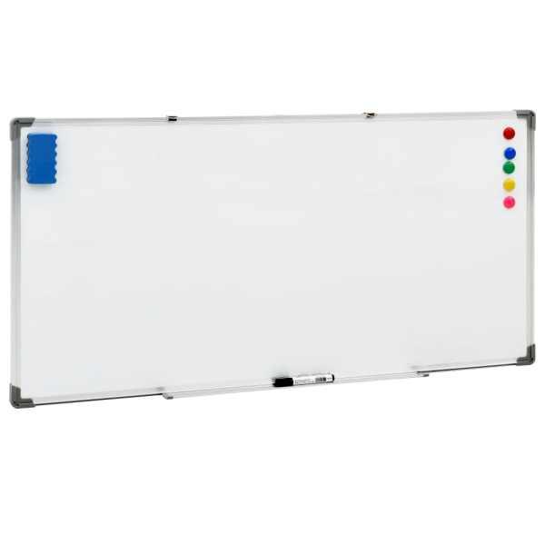 vidaXL Tablă magnetică albă cu ștergere uscată 120×60 cm oțel