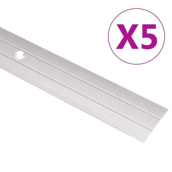 vidaXL Profile de pardoseală, 5 buc., auriu, 100 cm, aluminiu