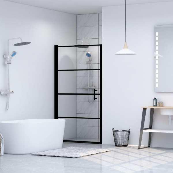 vidaXL Ușă de duș, negru, 100 x 178 cm, sticlă securizată