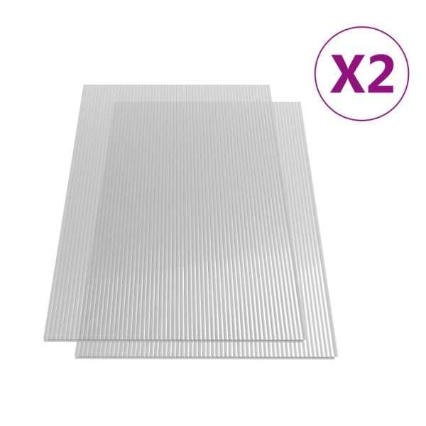 Plăci de policarbonat, 2 buc., 113 x 60,5 cm, 4 mm